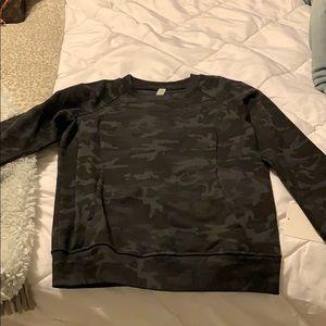 Black camo lululemon scuba crew hoodie